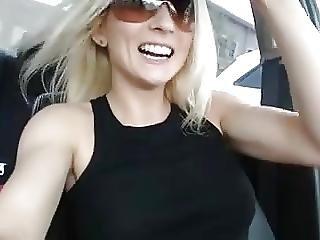My Secretary Andrea - Car Dildo Fuck In Public While Driving