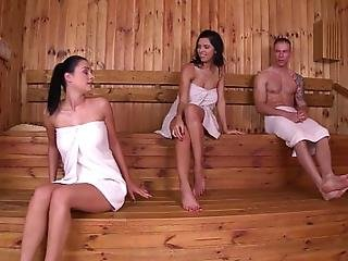 Russian Vixen Kira Queen Couldnt Stop Thinking About Her Hot Debut Encounter With Hungarian Hottie Nicole Smith And So We Created An Encounter For Them At The Sauna Today