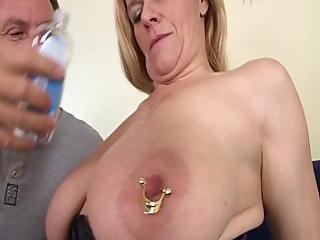 blondine, blasen, milf, pierced