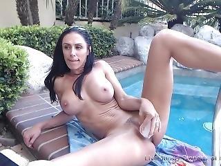 amateur, bonasse, gros téton, brunette, masturbation, milf, webcam
