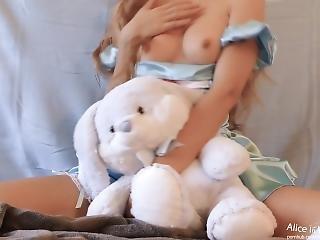 amatoriale, cull, culo grande, bionda, coniglietta, masturbazione, orgasmo, da sola, Adolescente