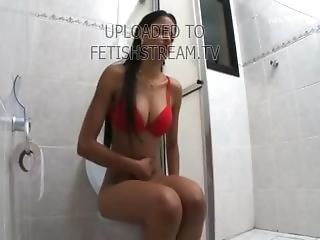 Brazilian Farting On Toilet