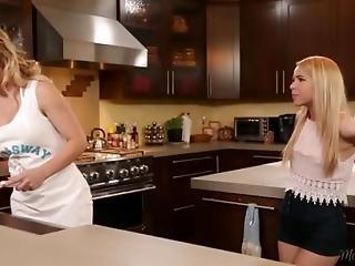 Cherie Deville And Alina West Kitchen Adventure
