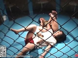 Wrestling 0015; Japanese Girl Cage Match