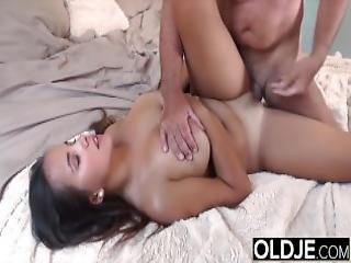 Grandpa Fucks Teen 18 Years Old Tight Pussy In Bedroom Great Wet Blowjob
