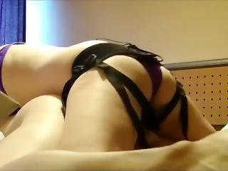 Girlfriend Destroying My Ass With Strapon