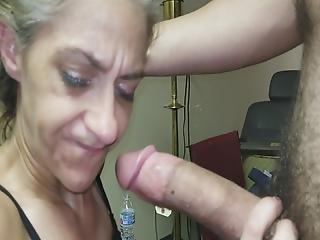 Gagging Granny Gummer Gnaws On Simp's Cock