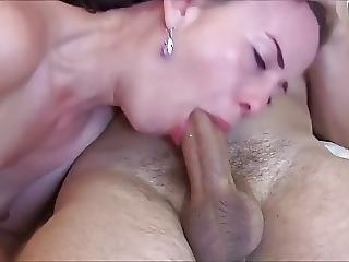 Gorgeous Cougar Sucks Dick And Slurps Cum