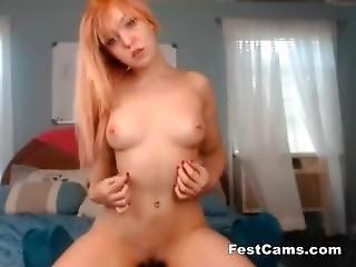 Blonde Student Small Tits Naughty At Camera
