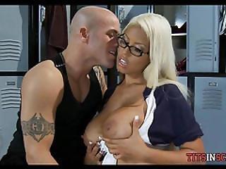 Giant Boob Slut In The Locker Room