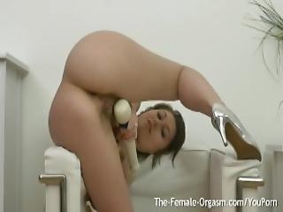 Hairy Femorg Babe Masturbates To Multiple Pulsing Orgasms