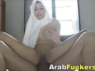 Poor Arab Hijab Girl Pays For Motel With A Fuck