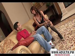 Beauty Step Mom Ariella Ferrera Gives Handjob Good Touching Step Son