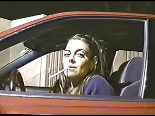 Woman Smoking 120s In A Car