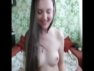 Cute Brunette Striptease Masturbating Toys Long Hair Hair