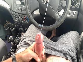 Car Park Wanking And Cum Explosion