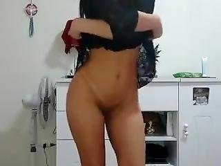 Little Whore Dancing 4 Me. Latina Bailando Para Mi.