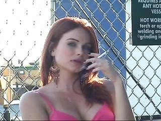 Redhead Smoking (nrop24)