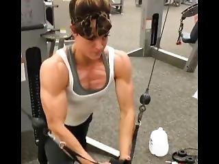 Chest Workout Muscle Girl