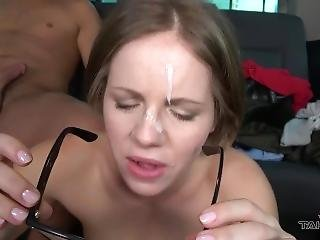 Raw Times In Van Ends With Cum On Glasses For Cheated Russian Student