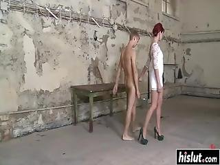 Maitresse Madeline Makes A Kinky Dude Moan By Fucking Him With A Strap-on