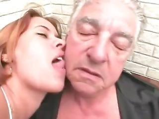 Brazilian Girl And Old Man