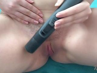 Hot Teen Playing With Vacuum Cleaner - Vacuuming Feet, Tits And Pussy