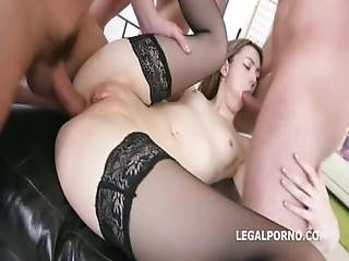 anal, rompe, rompe knull, stor kukk, blowjob, cowjente, cumshot, doggystyle, dobbel anal, facial, knulling, små pupper, strømpe