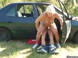 He Picks Up And Fucks Hitchhiking Granny