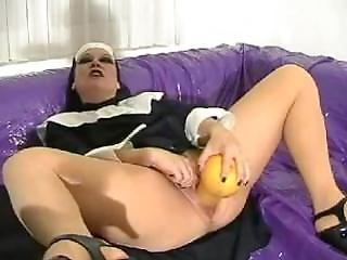 Nun Fucks Huge Bottle Gourd