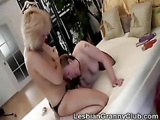 Redhead Granny Doggyfucked By Hot 60yo Blonde Lesbian