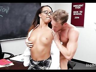 Hot Teen Student Drilled By Professor Teanna Trump