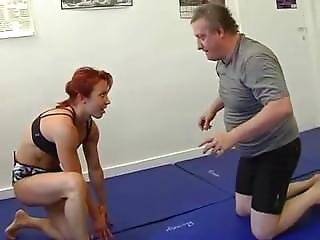 Angela first time in armbinder