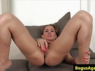 Euro Amateur Pussyfucked On Casting Couch