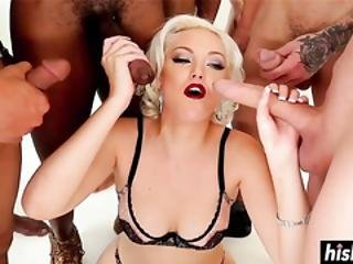 store bryster, stor cock, blond, blowjob, bryst, sædshot, tissemand, facial, gangbang, gonso, gruppesex, interracial, oral, sex, sluger
