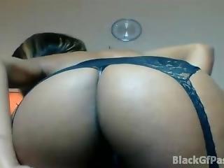 amateur, ébène, fine, embêter, webcam