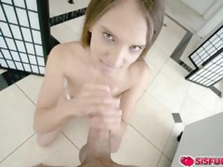 Izzy Tell Her Stepbro To Fuck Her Tight Pussy