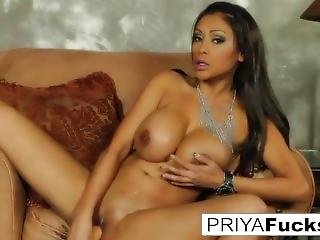 Biker Chick Priya Satisfies Her Cock Hunger With A Giant Toy!