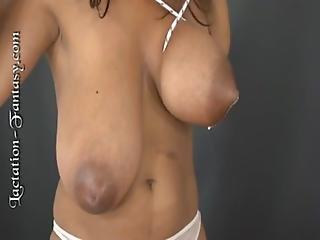 Hugetit, Lesbian, Mature, Milf, Milk, Nipples, Preggo, Sucking