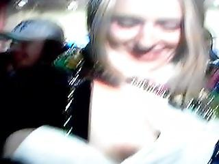Mardi Gras tit sucking