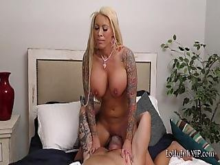 Big Titted Blonde Milf Begs For Cock