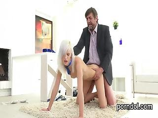 Sultry College Girl Was Seduced And Plowed By Her Aged Teacher