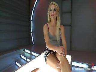 kunst, blondine, arsch, buttcam