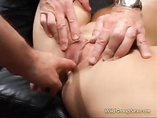 Two German Chicks In Wild Bukkake Orgy