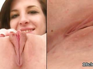 Elegant Sweetie Is Gaping Narrowed Kitty In Close-up And Getting Off