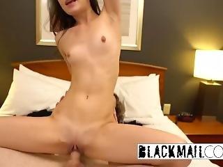 Monster Cock Pleasuring Petite Teen