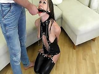 Submissive Teen Ass To Mouth Fucked And Made To Squirt. Mia Bandini