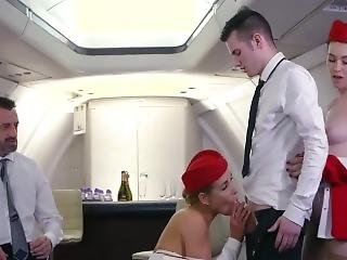 Hot Stewardess Fuck And Suck Out Cum
