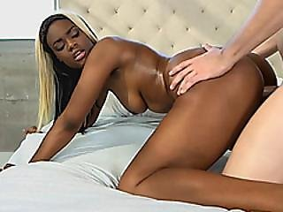 Curvy Ebony Babe Fucked Hard In Interracial Sex