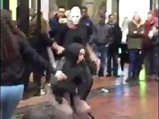 Hijabi Reena Twerking On Guy In Birmingham City Centre